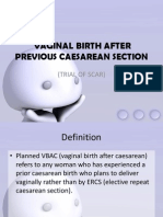 Vaginal Birth After Previous Caeserian Section