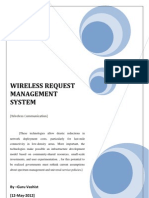 Wireless Request Management System