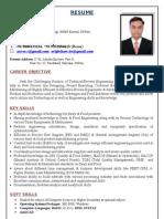 Avijit Shaw M Tech Dairy Engineer Resume 2012