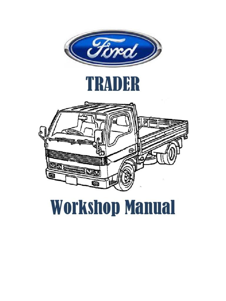 ford trader workshop manual