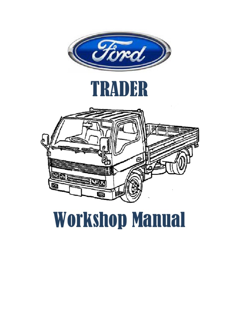 ford trader workshop manual pdf