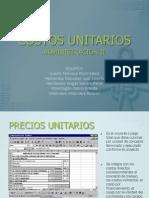 COSTOS UNITARIOS (1)