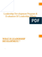 Leadership Development Program & Evaluation of Leadership Efforts