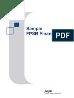 Sample Financial Plan