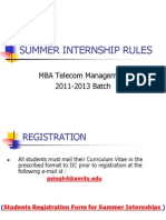 Summer Internship Ppt