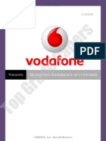 Vodafone - Customer Marketing Experience Report - Academic Assignment - Top Grade Papers