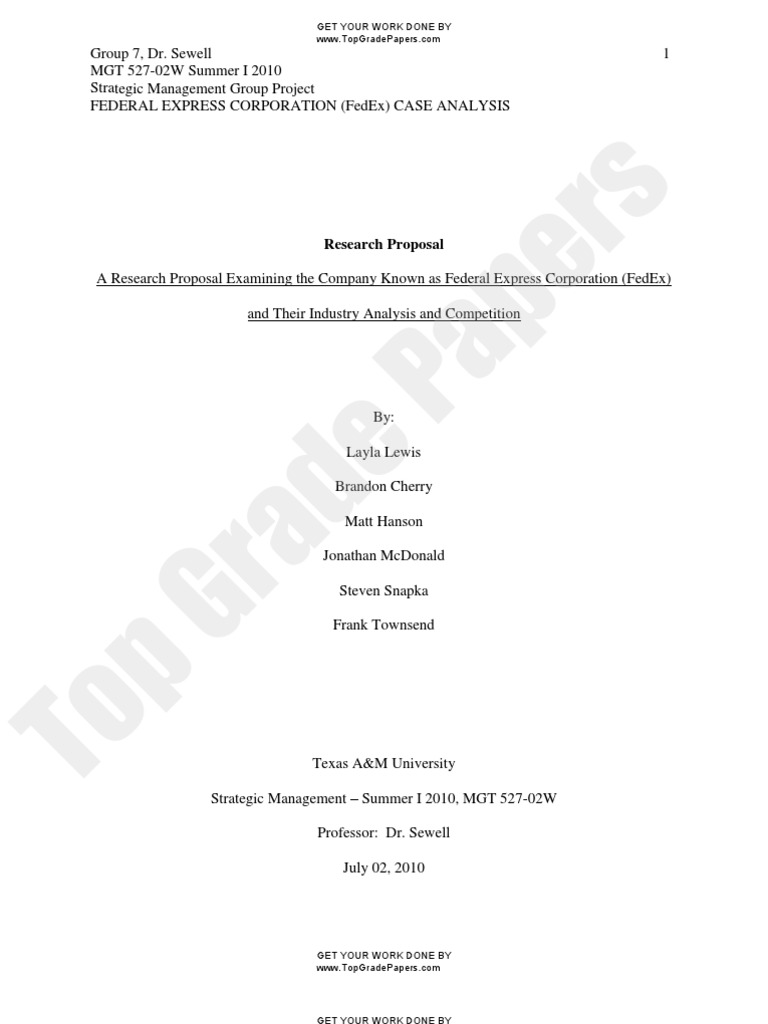 fedex - company analysis - academic assignment - top grade papers