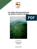 Enjeux Gouvernance Mines Guinee