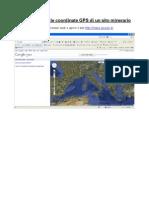 Come Ottenere Le Coordinate GPS Di Un Sito Minerario