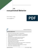 Lecture 6 Inter Persona Behavior 080417 Rz[1]