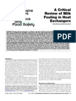 A Critical Review of Milk Fouling in Heat Ex Changers
