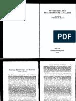 Katz, Language, Epistemology and Mysticism, pp. 22-74