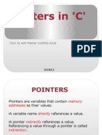 Pointers in 'C'