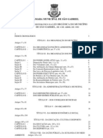 Lei Ordinária 01-1990 - Lei Orgânica do Município