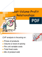 CVP Cost Volume Profit Relationships
