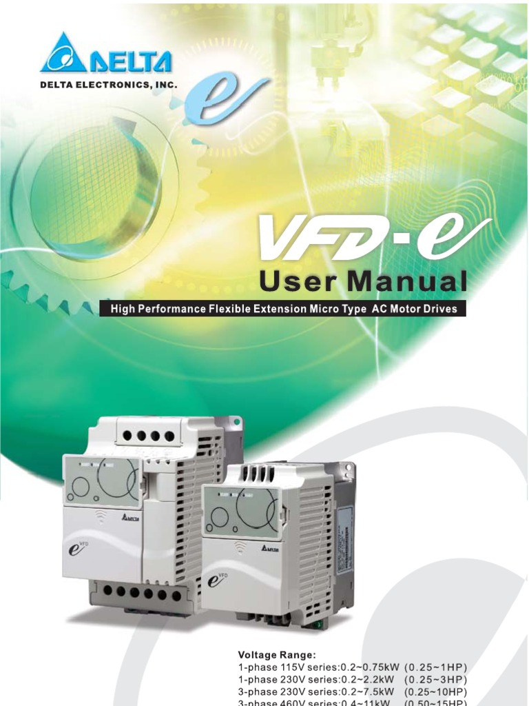 vfd e manual alternating current