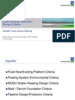 GoM Offshore Structures Design Criteria