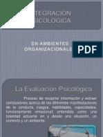 INTEGRACIÓN PSICOLOGICA EN AMBIENTES LABORALES