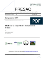 Etude sur la compétitivité du riz local en Guinée