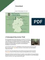 National Parks in Deutschland Tekst