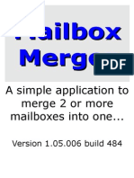 Mailbox Merger Handbook Version 1.05.006