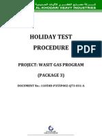Holiday Test Procedure