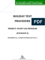 Holiday Test Procedure