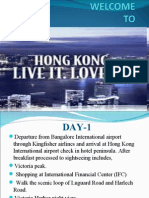 Welcom to Hong Kong