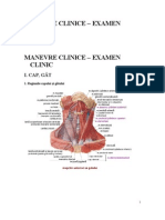 MANEVRE CLINICE