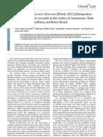 (Bernarde et al. 2011) Bothriopsis bilineata (Viperidae). New records Amazonas, Mato Grosso and Rondônia