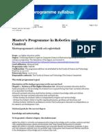32891 Syllabus Master Robotics and Control