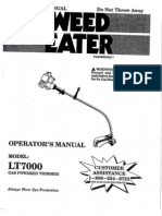Weed Eater LT7000 Manual