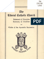 Liberal Catholic Church Statement of Principles 1926