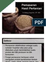 7. Pemasaran Hasil Pertanian