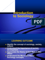 Week Introduction to Sociology