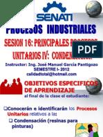 SESION Nº 16 - PROCESOS UNITARIOS 04 - CONDENSACION (FABRICACION DE PINTURAS)