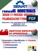 SESION Nº 17 - PROCESOS UNITARIOS 17 - POLIMERIZACION & FERMENTACION