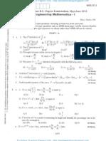 Engg Mathematics-1 June 2010