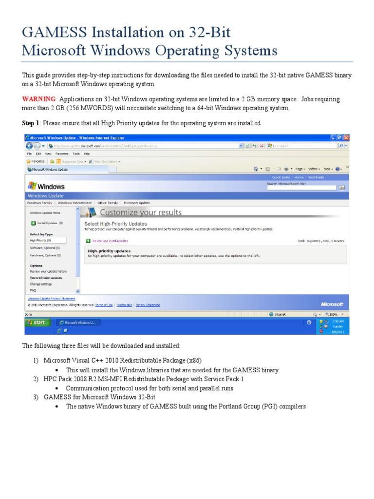 WinGAMESS Setup Guide 32 | Microsoft Windows | Directory