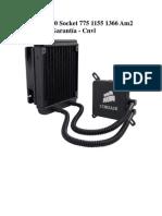 Corsair H60 Socket 775 1155 1366 Am2 Am3 Con Garantía