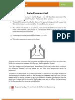 Lobo Even method, ditribution of radient beam in furnace