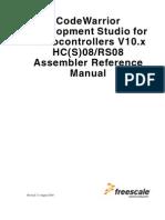 HCS08-RS08 Assembler MCU Eclipse