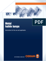 Metal Halide Lamps. Instructions for the Use and Application