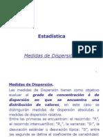 Estadisticas  Medidas de Dispersión