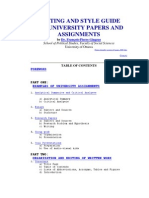 Writing and Style Guide for University Papers and Assignments