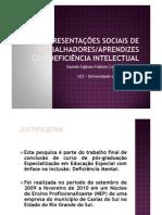 Apresentação deficiência intelectual e mercado de trabalho