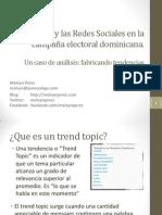 Internet y las Redes Sociales en la campaña electoral dominicana