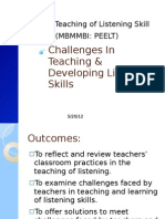 Challenges in Teaching & Developing Listening Skills