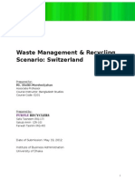 DONE Waste Management & Recycling Scenario in Switzerland