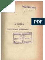 A Escola e a Psicologia Experimental - E. Claparède